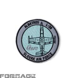 Nášivka L-39 Albatros šedomodrá