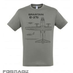 Tričko C-27J Spartan čierny text