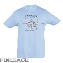 Detské Tričko MiG-29 Tech sky