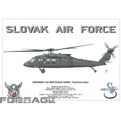 Poster A3 UH-60M Black Hawk