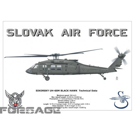 Poster A3 UH-60M Black Hawk