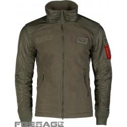 Green fleece jacket F-16 FIGHTING FALCON
